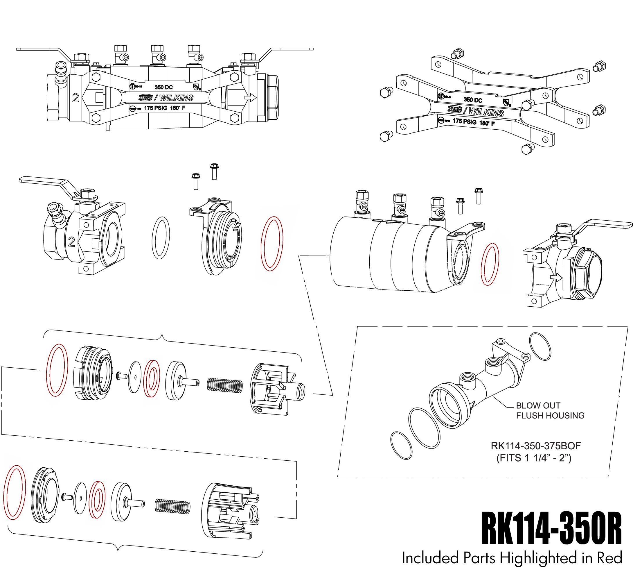 RK114-350R - Rubber Repair Kit